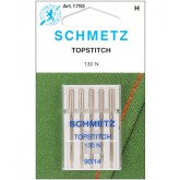 """Adatas Schmetz 130 N VDS № 90  """"Topstitch"""" 5gab."""
