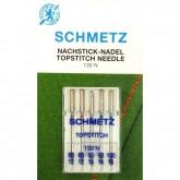 """Adatas Schmetz 130 N VIS № 80-90-100  """"Topstitch"""" 5gab."""