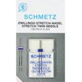 Dubultās adatas Schmetz 130/705 H-S ZWI  № 75/2.5 Stretch trikotāžai